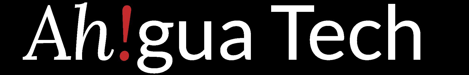 Ah!gua Tech Text Logo