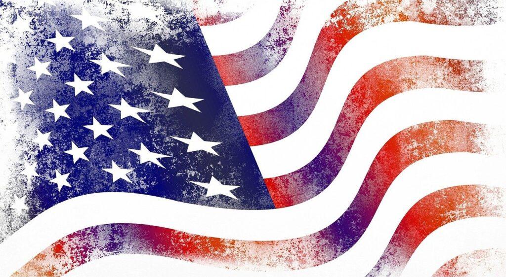 usa, flag, america